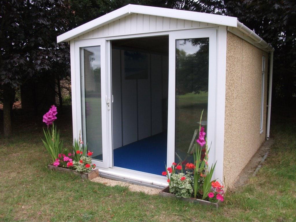 Leosheds concrete sheds for Pre built garden rooms